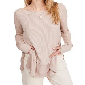 Free People North Shore Oversized Thermal Tunic
